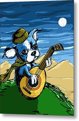 Puppy Serenade Metal Print by Devin Hermanson