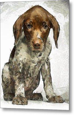 Metal Print featuring the painting Pupy by Georgi Dimitrov