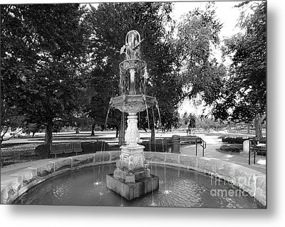 Purdue University Fountain Metal Print