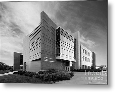 Purdue University Jischke Hall Of Biomedical Engineering Metal Print by University Icons