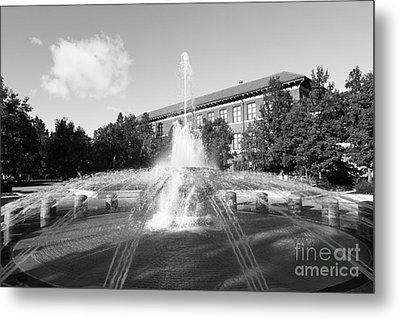 Purdue University Loeb Fountain Metal Print by University Icons