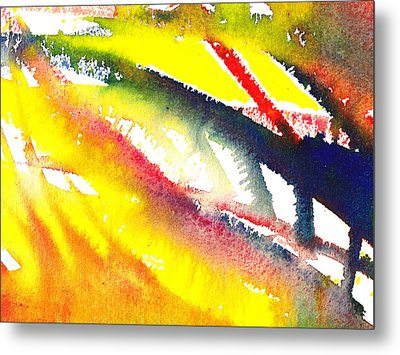 Pure Color Inspiration Abstract Painting Escaping Blaze Metal Print