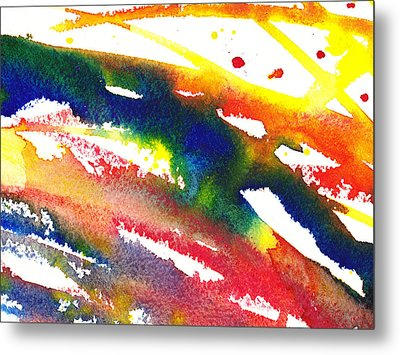 Pure Color Inspiration Abstract Painting Streaming Hue Metal Print by Irina Sztukowski
