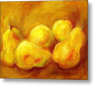 Pure Gold Metal Print by Kat Griffin