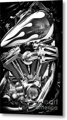 Pure Harley Chrome Metal Print by Tim Gainey