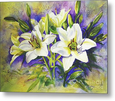 Purity Metal Print by Betty M M   Wong