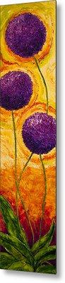 Purple Allium Flowers Metal Print by Paris Wyatt Llanso