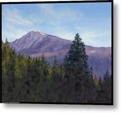 Purple And Gold Metal Print by Diana Moses Botkin