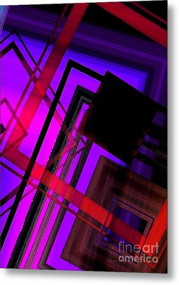Purple And Red Art Metal Print by Mario Perez