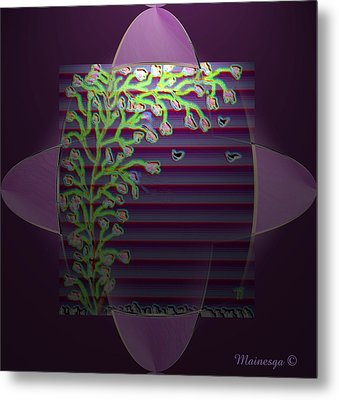 Purple Blind Metal Print by Ines Garay-Colomba