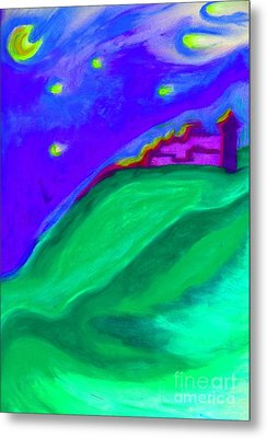 Metal Print featuring the painting Purple Castle By Jrr by First Star Art