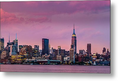 Metal Print featuring the photograph Purple City by Mihai Andritoiu