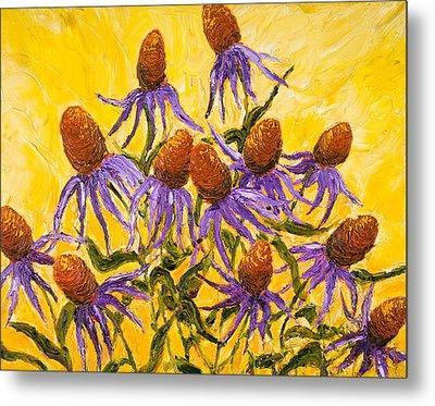 Purple Cone Flowers Metal Print by Paris Wyatt Llanso