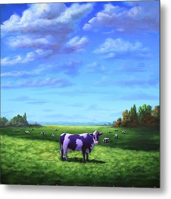 Purple Cow Metal Print