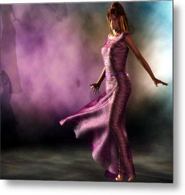 Metal Print featuring the digital art Purple Dancer by Kaylee Mason