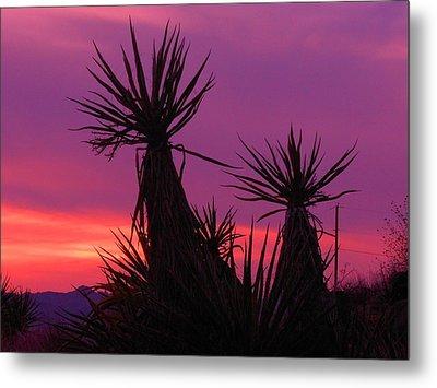 Purple Desert Metal Print