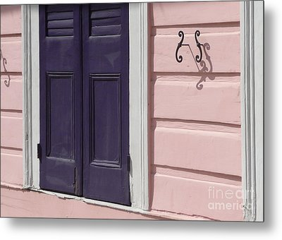 Metal Print featuring the photograph Purple Door by Valerie Reeves