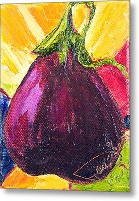 Purple Eggplant Metal Print by Paris Wyatt Llanso