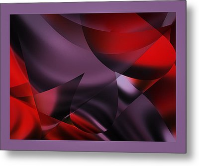 Purple Energy  Metal Print