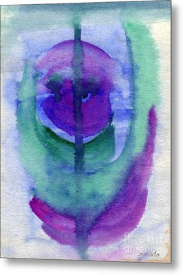 Purple Face Metal Print