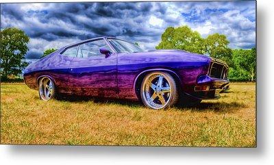 Purple Falcon Coupe Metal Print