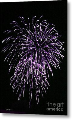 Purple Fire  Metal Print by Yumi Johnson