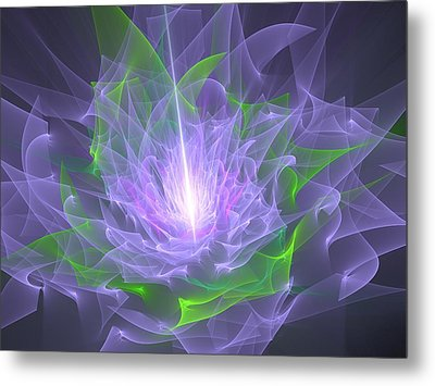 Purple Flame Metal Print by Svetlana Nikolova