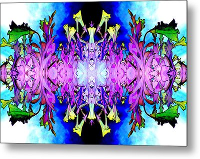 Purple Flower Abstract Metal Print by Marianne Dow