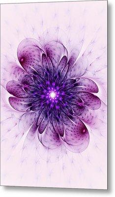 Single Purple Flower Metal Print by Anastasiya Malakhova