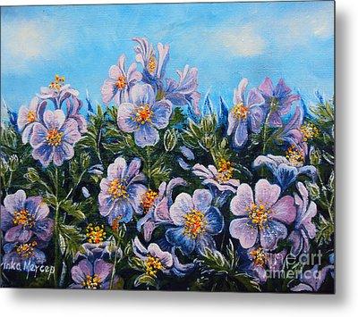 Purple Flowers Metal Print by Drinka Mercep