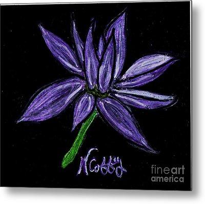 Purple Flowers Metal Print by Neil Stuart Coffey