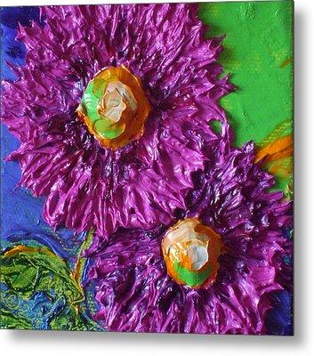 Purple Flowers Metal Print by Paris Wyatt Llanso