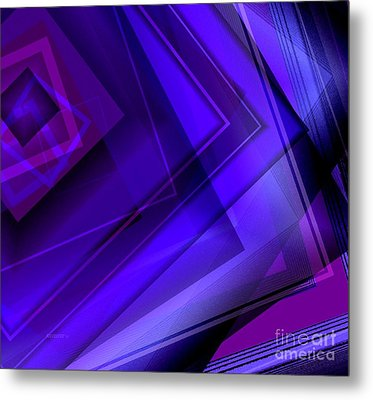 Purple Geometric Transparency Metal Print by Mario Perez