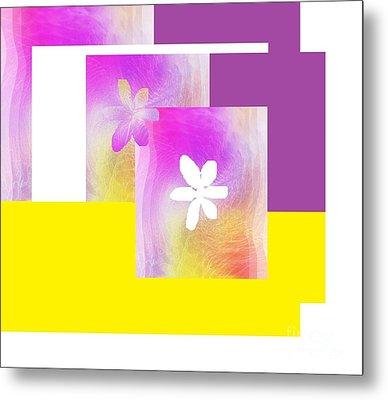 Purple Glow Flower Metal Print