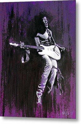 Purple Haze - Hendrix Metal Print by William Walts