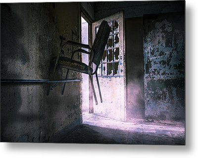 Purple Haze - Strange Scene In An Abandoned Psychiatric Facility Metal Print