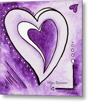 Purple Heart Love Painting Pop Art Blessed By Megan Duncanson Metal Print