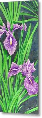 Purple Iris Metal Print by Richard De Wolfe