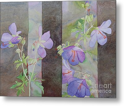 Purple Ivy Geranium Metal Print