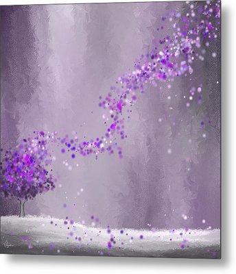 Purple Landscape- Purple Impressionist Painting Metal Print by Lourry Legarde