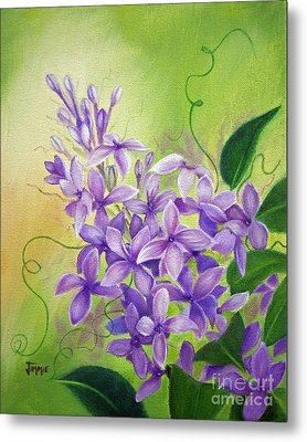Purple Lilacs Metal Print