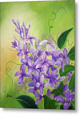 Purple Lilacs Metal Print by Jimmie Bartlett
