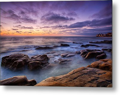Purple Majesty No Mountain Metal Print by Peter Tellone