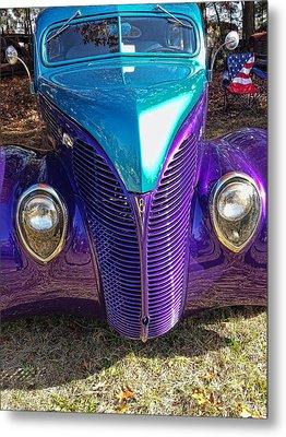 Purple Maze Metal Print