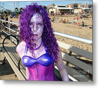 Metal Print featuring the photograph Purple Mermaid by Ed Weidman