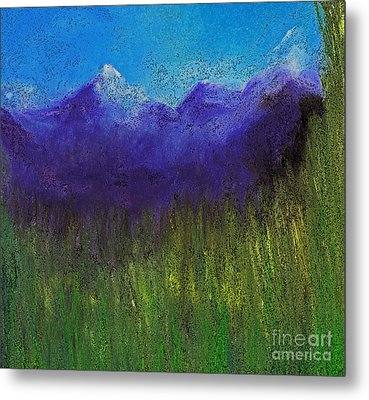 Purple Mountains By Jrr Metal Print