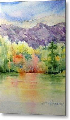 Purple Mountains Majesty Metal Print by Cynthia Roudebush