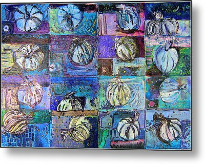 Purple Onions Metal Print by Mindy Newman