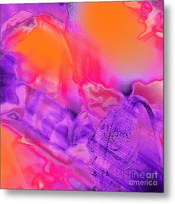 Purple Orange Pink Abstract Metal Print