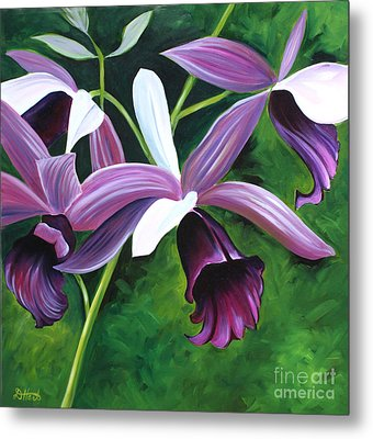 Purple Orchid Metal Print
